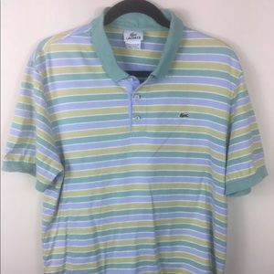 Lacoste Green Yellow Light Blue S/S Polo Shirt 5